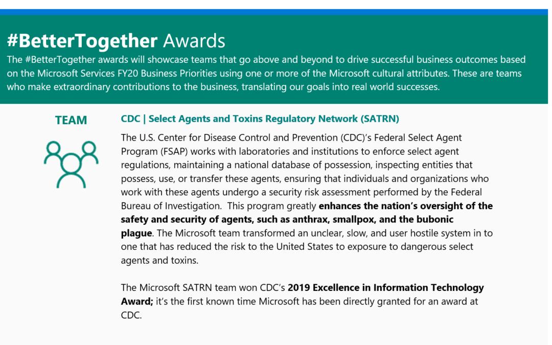 Team TrueTandem Awarded #BetterTogether Award